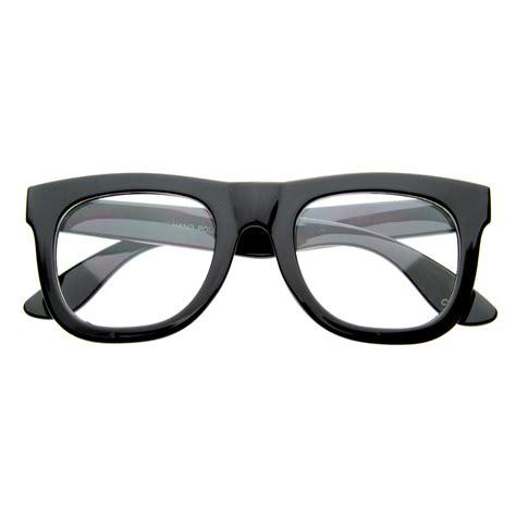 clear lens retro thick wayfarer glasses 8084 black