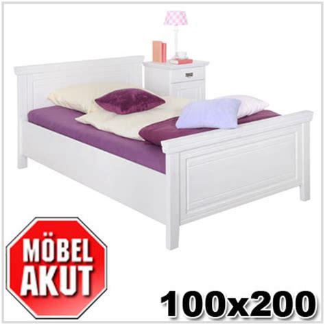 bett 100x200 weiß massiv einzelbett wei 223 100 215 200 olstuga