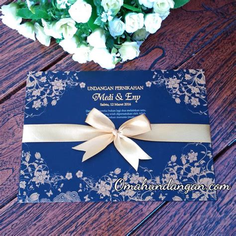 Bingkai Foto Ekslusif Dan Elegan Sj64 Gold Ukuran 60x80x3 Cm undangan biru dongker single hardcover