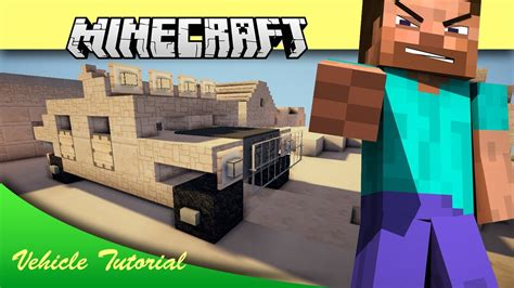 Minecraft Vehicle Tutorial Humvee Army Jeep Youtube