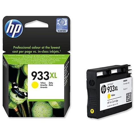 Cartridge Hp 933xl Yellow hp 933xl yellow inkjet cartridge high capacity cn056ae