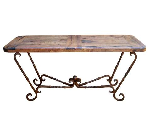 iron sofa table base mesquite and iron console table western sofa tables