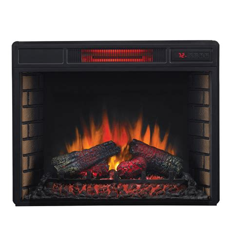 Electric Fireplace Logs Classicflame 28 In Spectrafire Infrared Electric Fireplace Insert 28ii033fgl