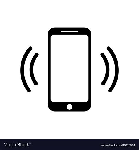 mobile phone icons ringing smartphone icon mobile phone call icon vector image