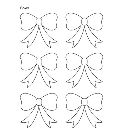 Paper Bow Template 8 Free Word Pdf Documents Download Free Premium Templates Bow Template Printable