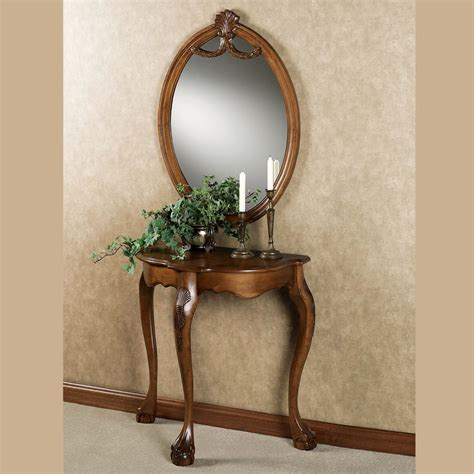mirror console table raphael wood console table and mirror