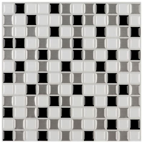 peel and stick wallpaper tiles instant mosaic 3 in x 6 in peel and stick mosaic