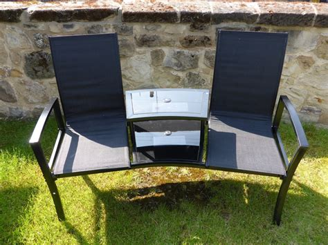 table chairs and bench black 2 seater garden bench love seat 2 chairs with