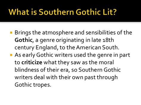 major themes in southern literature southern gothic literature