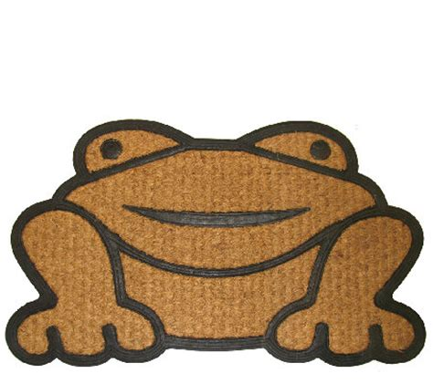 Mat With Frog Logo by Geo Crafts Frog Coir Doormat Page 1 Qvc