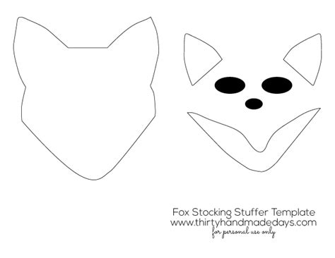 fox template printable printable fox mask template car interior design