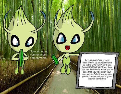 Mew Giveaway 2017 - celebi giveaway by joshpointoh on deviantart