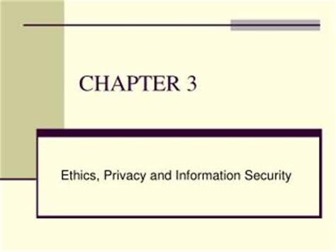information security and ethics social and organizational issues books ppt security privacy and ethical issues in information