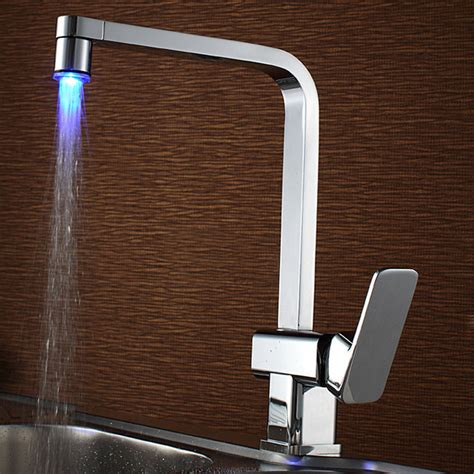 led kitchen faucet sumerain led kitchen faucet contemporary kitchen