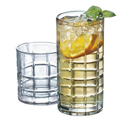Bar Glassware Set Clear Glassware Set 16 Glass Water Kitchen