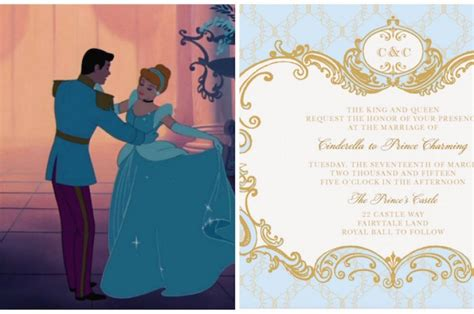 Cinderella Inspired Wedding Invites (Plus 6 More Disney Princess Options!)   Love Inc. MagLove