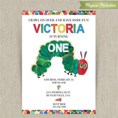 hungry caterpillar invitation template free hungry caterpillar printable birthday invitation