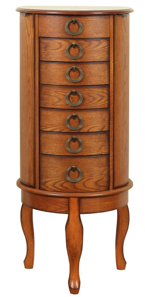 powell woodland oak jewelry armoire jewelry armoire espresso l powell woodland oak vanity mirror bench soapp culture