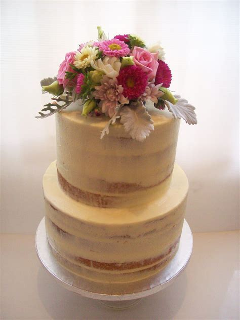 Semi Naked Wedding Cake Auckland $450   Wedding Cakes