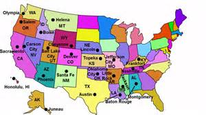 united state map of states and capitals state capitals song
