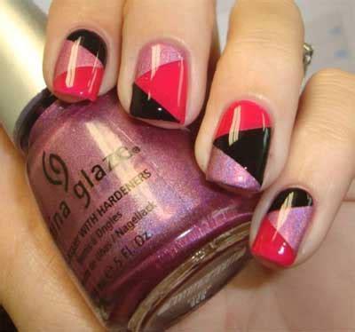 nail art triangle tutorial geometric nail art tutorial amazingnailart org