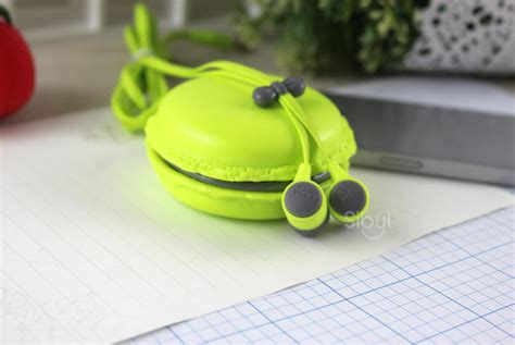 Headset Karakter Macarons 6 mini storage box headset macarons in ear earphones headphone earphone for iphone xiaomi