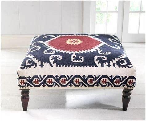 50 Creative Diy Ottoman Ideas Ultimate Home Ideas Rug Upholstered Ottoman