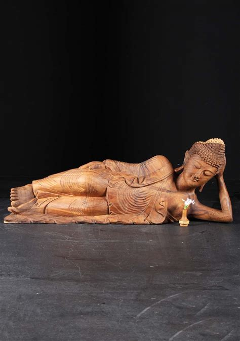 the reclining lotus sold wooden reclining buddha statue 41 quot 86bw1 hindu
