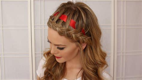 Frisuren Mit Haarreif 4678 by Braid Hairstyle With A Ribbon