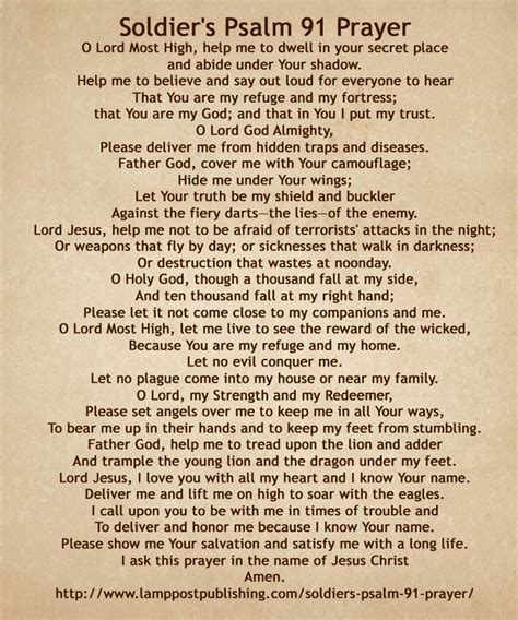 printable version psalm 91 soldier s prayer a psalm 91 prayer for soldiers l