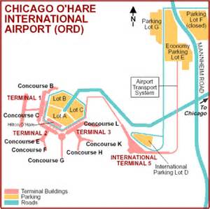 Chicago O Hare Parking Map by Chicago O Hare Airport Ord Lufthansa 174 United States
