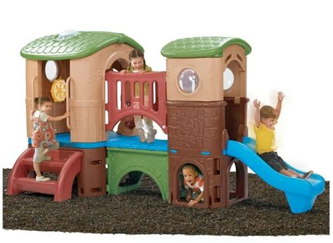 toddler playhouse with slide outdoor playhouse with a slide get your toddler outside