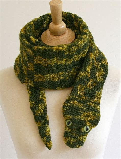 snake scarf knitting pattern crochet animal scarves free patterns included the whoot