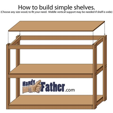 build free standing shelves plans home woodworking projects
