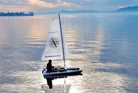 klepper boat modular klepper backyak combines a sled kayak sailboat