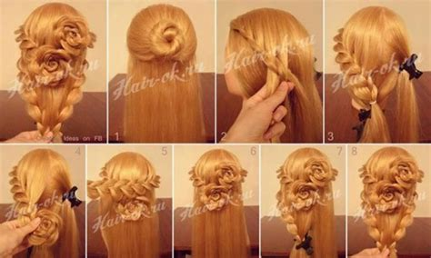 step by step haircut instructions how to do pretty flower braid hairstyles step by step diy