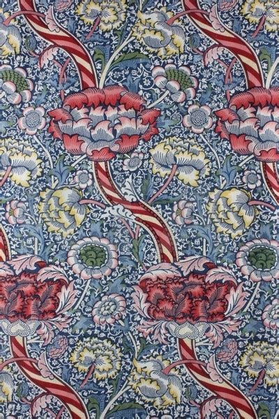 designer wandle a william morris wandle block printed cotton panel the
