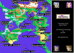Ff2 World Map by Ff2 And Ff4 World Maps Video Games Archive Legends Of