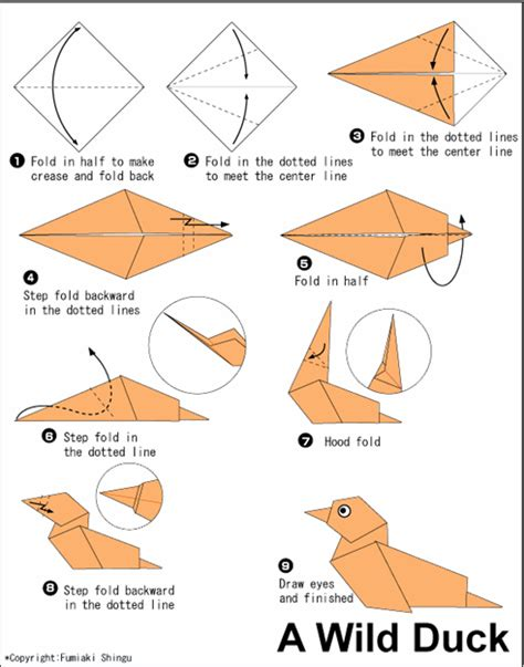 Paper Animals Origami - pin pin easy origami dove on