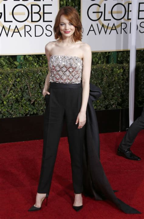emma stone jumpsuit how to wear pants to homecoming glam gowns blog