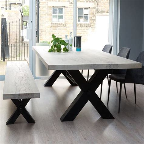 metal and wood kitchen table bolt solid wood metal dining table pinteres on kitchen