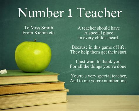 Thank You Letter For A Teachers Leaving School Personalised Number 1 Poem Thank You Leaving Gift Present Ebay