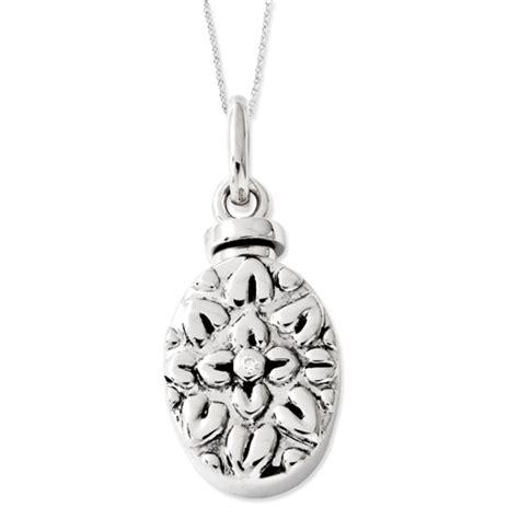 sterling silver cz antiqued flower ash holder 18in
