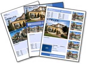 House For Sale Spec Sheet Template by Free Real Estate Listing Flyer Templates