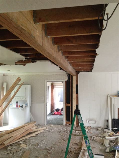 load bearing wall beam in attic new 21ft beam to replace load bearing wall stuff i dig