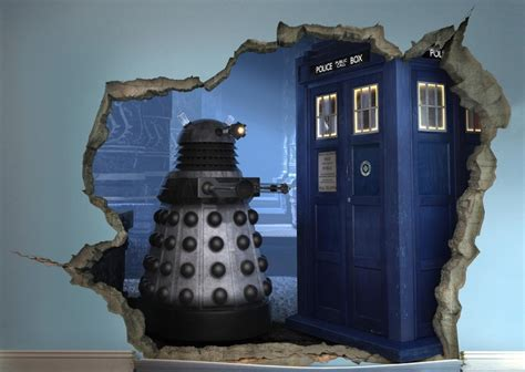 tardis wall mural 3d doctor who mural what s on my tv