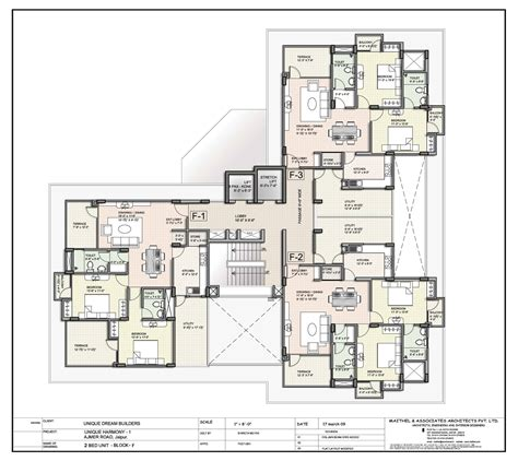 Floor Plan Unique Harmony Apartments Jaipur Residential Property Buy Unique