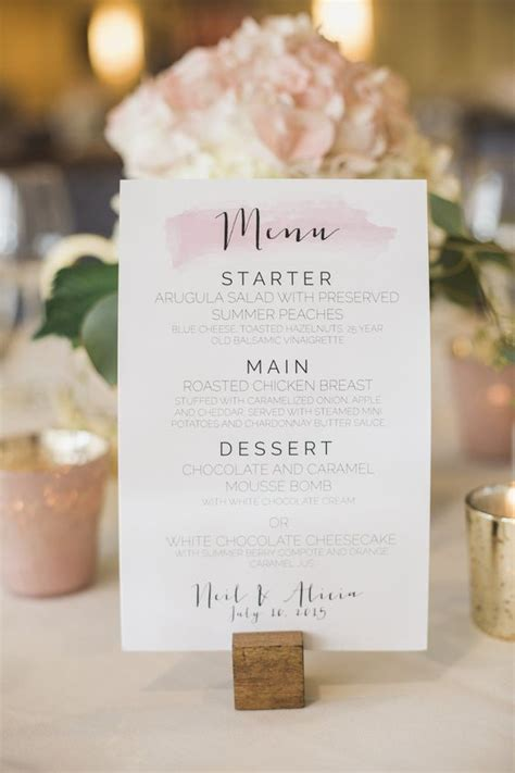 gorgeous wedding menu ideas food wine recipes
