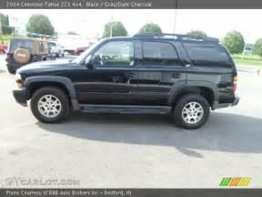 black 2004 chevrolet tahoe z71 4x4 gray charcoal