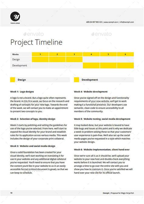 rfp timeline template website template this website technical